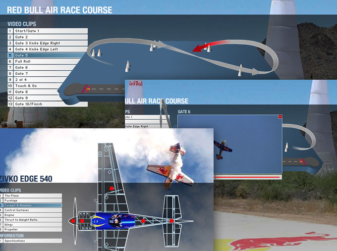 RedBull Copilot: Air Race Screens
