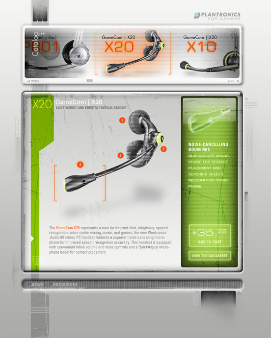 Plantronics Gaming: Site Concept Product Page